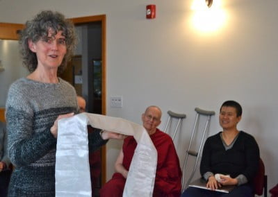 Nancy honestly expresses her challenges during the retreat and how she used the Dharma to work with them.