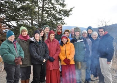 A happy and harmonious group after the fire puja.