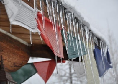 Like the mind, the weather changes—snowing, melting, and freezing again to produce icicles