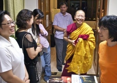 Venerable Damcho with students.