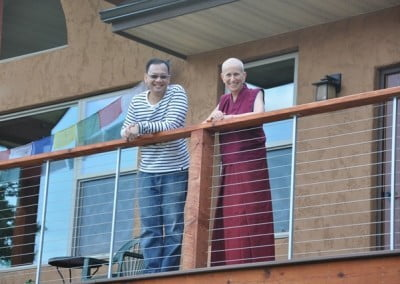 Jason, who is visiting for the first time from Singapore, has a long-time connection with Venerable Thubten Chodron.