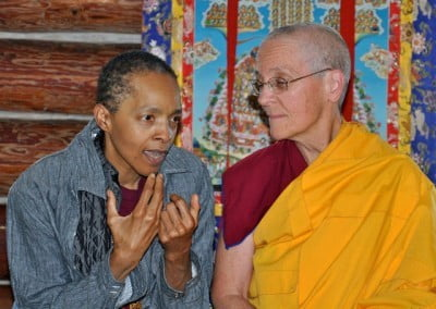 Ven. Semkye and Cheryl discuss the Dharma