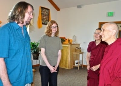 Russell and Ven. Chodron have much wisdom to impart to the group.