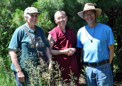 Ven. Semkye escorts Bob and Jane, who share our values in forest stewardship.