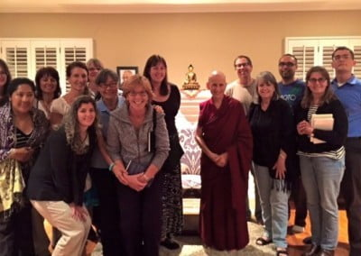 Ven. Chodron stops to give a Dharma talk in California before heading off to Australia and Indonesia.