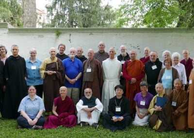 Ven. Tarpa and Ven. Semkye share inspiration and practical concerns with Christian and Buddhist monastics in an interfaith conference at the Abbey of Gethsemani in Kentucky.