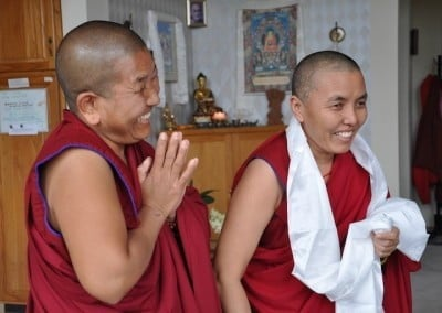 Our sangha sisters share gratitude on the last day of their visit.