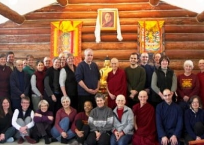 A group photo of the retreat participants