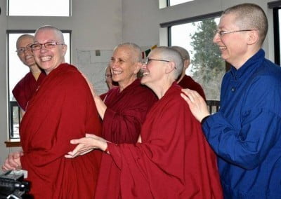 The community is behind Venerable Yeshe all the way as she prepares to depart for Taiwan to receive bhikshuni ordination.