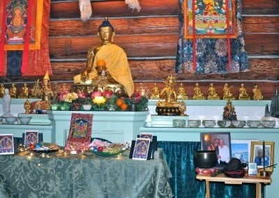 With so many requests for prayers for those who have died, are dying or are ill, the community does a Medicine Buddha puja for them every week.