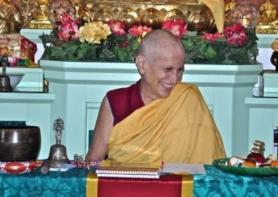Venerable Chodron delights in the joyful sharing of the Dharma on this special day.