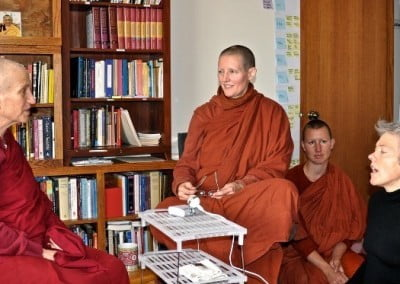 Sarah interviews Venerable Chodron and Ayya Tathaaloka on the topic of spiritual friendship, a subject near and dear to their hearts.
