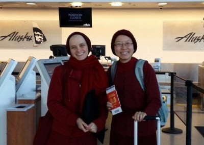 Off to Taiwan. The nuns will have no internet contact with the Abbey until the program concludes in April.