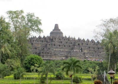 Photo of an exquisite stupa in Borobudur, Indonesia