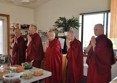 The sangha gratefully accepts the generous, abundant offering.