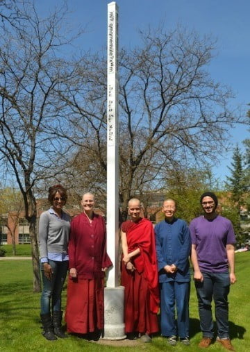 Venerables Chonyi, Jampa, and Ruby recently attended a luncheon and discussion at Eastern Washington University with an interfaith group called Compassion Interfaith Society.