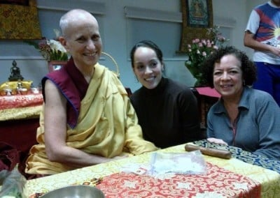 Connecting with Dharma friends in Xalapa.