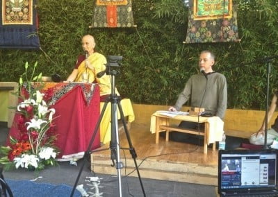 Peter Aaronson, a long-time student of Venerable Chodron's now living in Mexico, interpreted the Morelia talks.