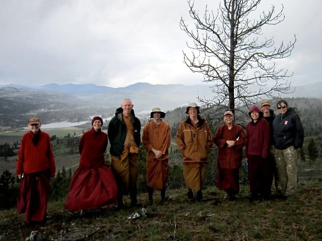 Thai Forest Monks and Tibetan Nuns Together  Restore Forest at Old Gold Mine Hermitage