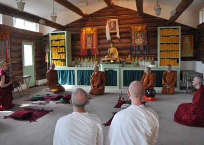 Sharing the Dharma brings joy to our gathering.