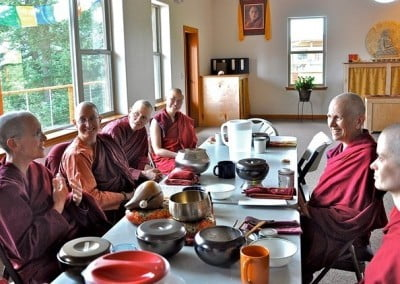 Dharma sisters sharing together.