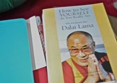 His Holiness the Dalai Lama's book from which Venerable Thubten Chodron taught.