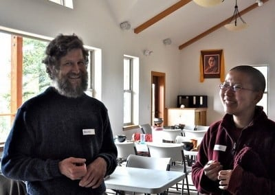Brian and Venerable Thubten Damcho talk about offering service in the forest this spring.