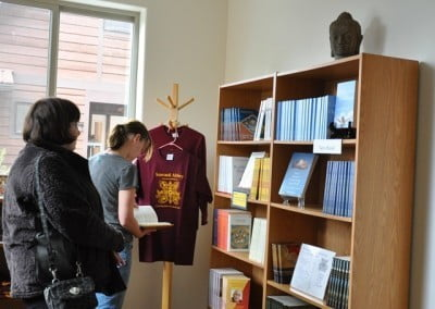 The new Dharma store gives our Dharma books and materials by donation a bright new home.