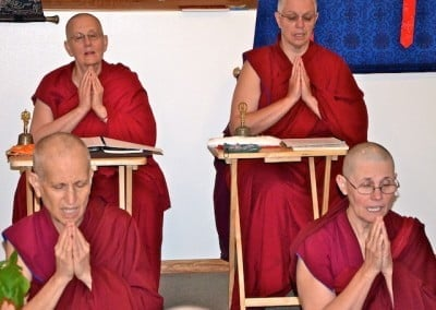 The sangha in harmony.