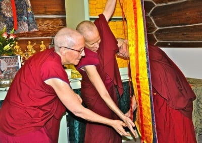 Opening an offering from visiting monk Venerable Togden.