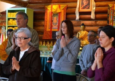 Chanting together quiets the mind.