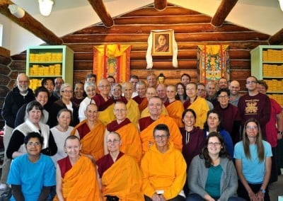 The group who attended the retreat pose for a picture.
