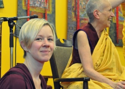 Caz was a superb assistant, making life easier for Venerable Chodron and for hosts throughout Europe.