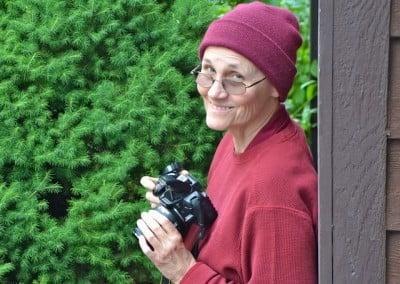 Venerable Chonyi smiles at the camera.