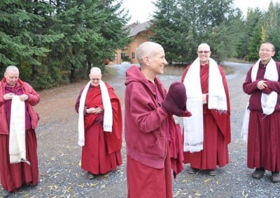 Venerable Thubten Chodron is always happy to come home.