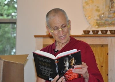 Venerable Thubten Chodron reads from the new book for Bodhisattvaa's Breakfast Corner on the Abbey's YouTube channel.