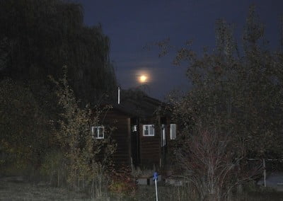 A full moon over the writing studio.