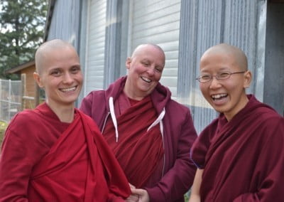 Sravasti Abbey's enthusiastic and committed shiksamanas share a wonderful connection as Dharma sisters.