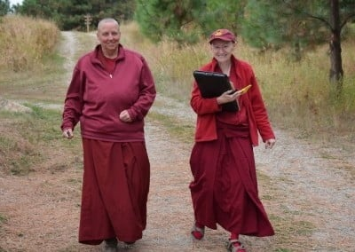 The retreat managers: Venerables Thubten Tsultrim and Samten.