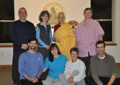 Venerable Thubten Chodron gave refuge and precepts to several retreatants.