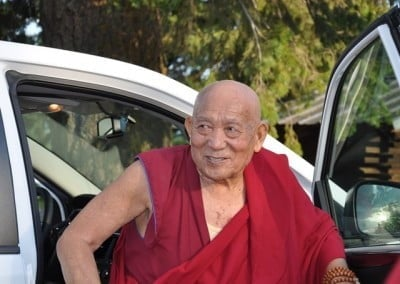 Geshe Thabkhe is glad to be at the Abbey.