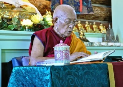 Geshe Thabkhe explained 100 more stanzas from Aryadeva.