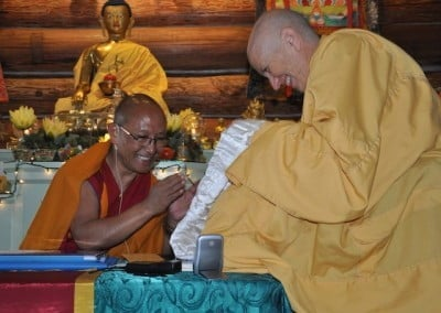 Giving and receiving katas is a joyous aspect of the Tibetan Buddhist tradition.