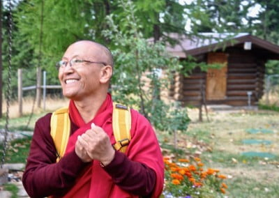 At our request, Geshe Dadul promises to come back to teach at the Abbey again.
