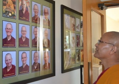 Geshe Dadul rejoices at the growth of the monastic community since he was last here in 2008.