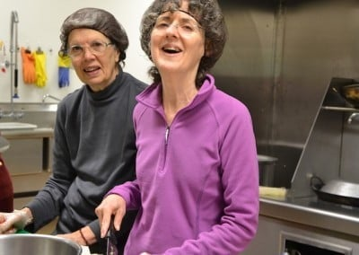 Zopa and Nancy show their skill and joyous effort in the kitchen.
