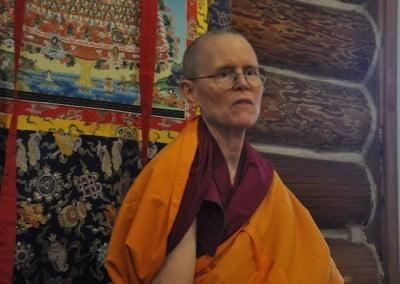 Close up photo of a buddhist nun.