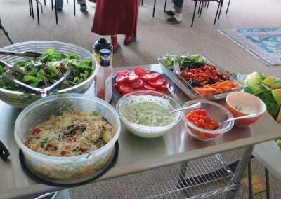A beautiful potluck.