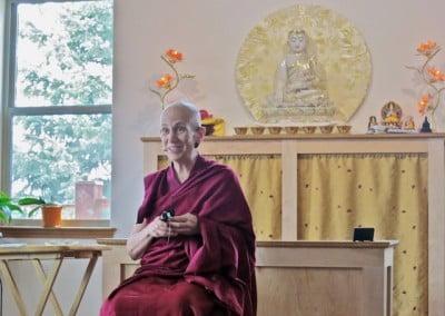 First, an inspiring Dharma talk …