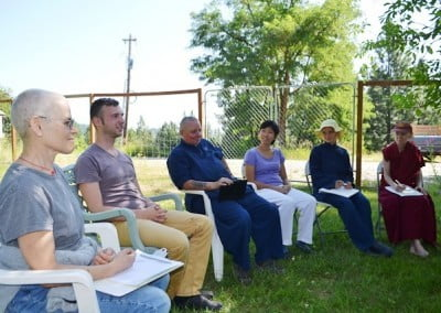 In discussion group we share insights and life experiences about topics pertaining to monastic life.